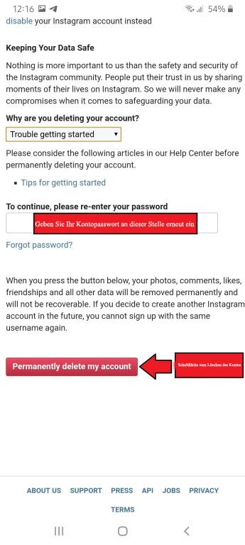 Wie Sie Ihren Instagram-Account dauerhaft löschen