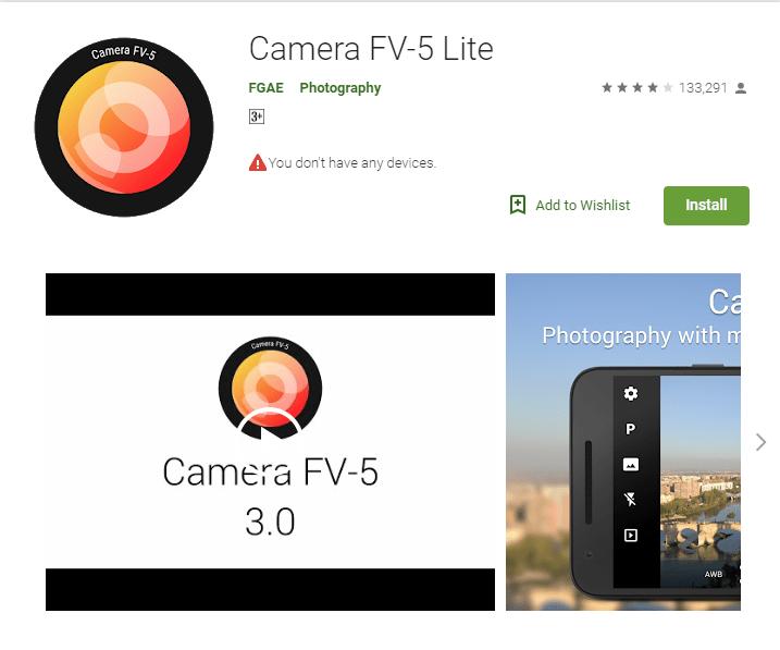 Die besten acht Android-Kamera-Apps zum professioneller Fotos