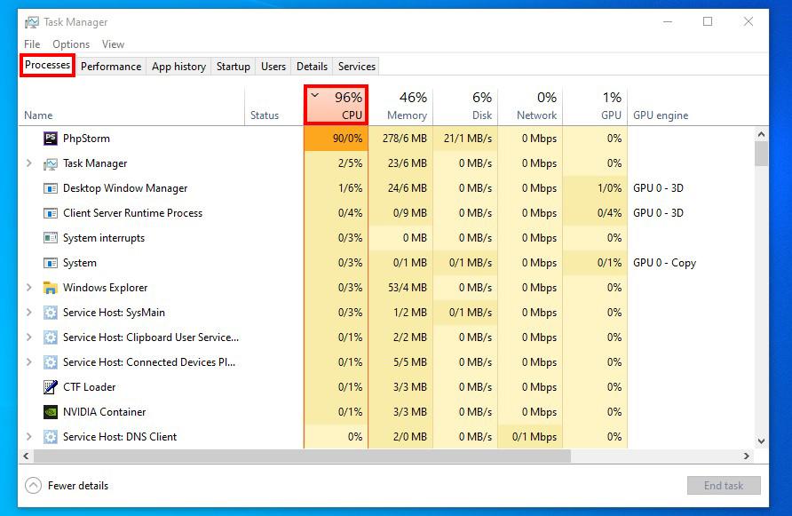 Identifizieren Programme, CPU Auslastung in Windows 10 erhöhen!