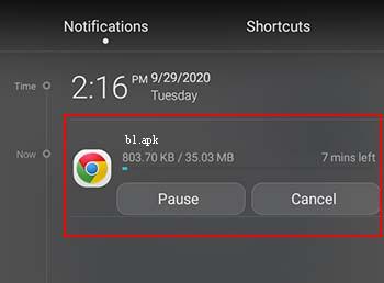 Wie sie fotos und dateien im Android chrome downloaden