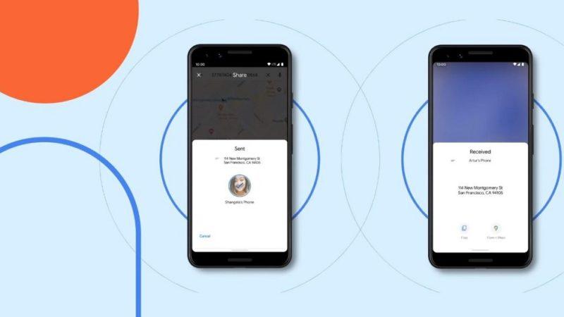 nearby share um daten zwischen android-handys zu übertragen