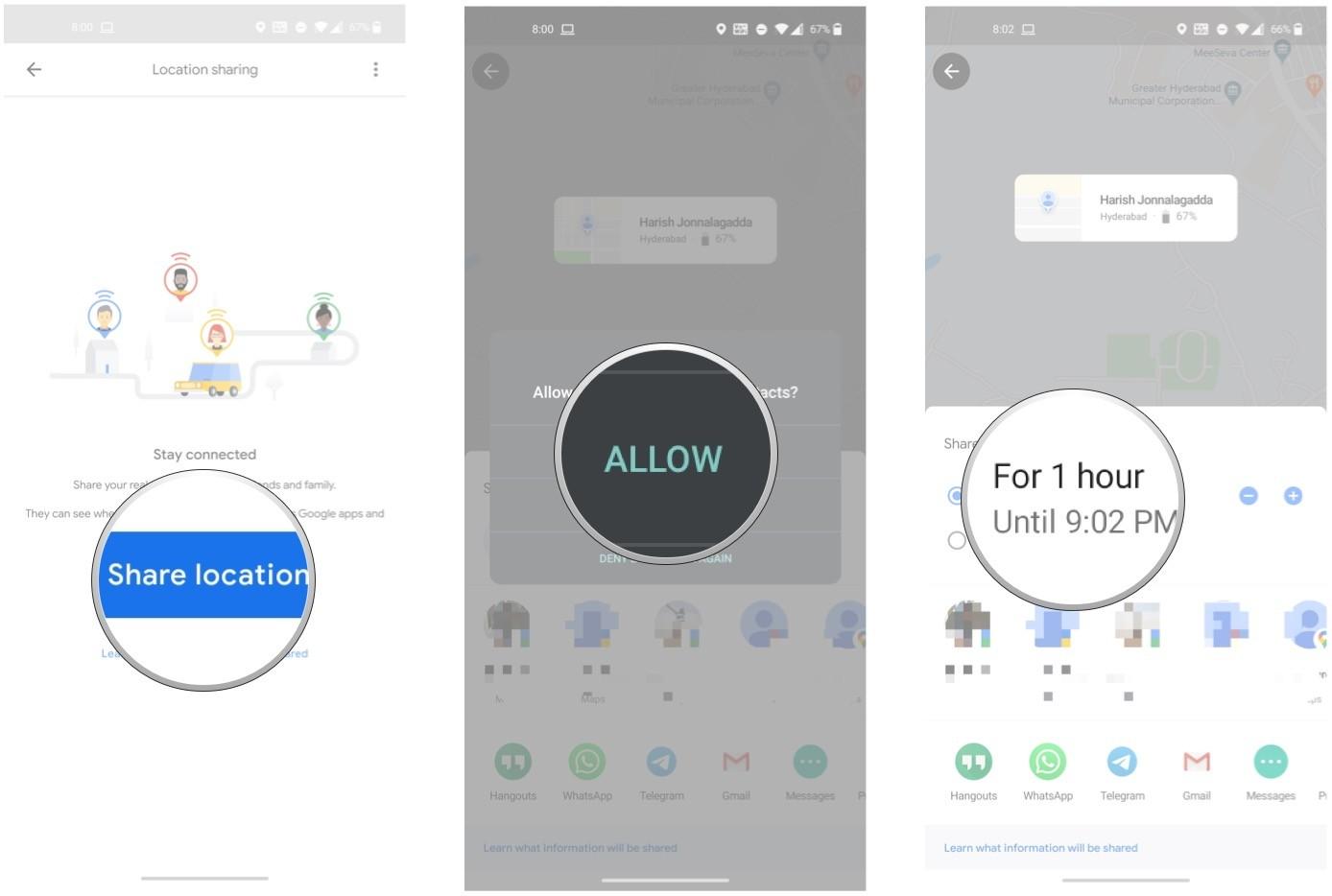 Google Maps Standort teilen, senden Whatsapp iPhone Android