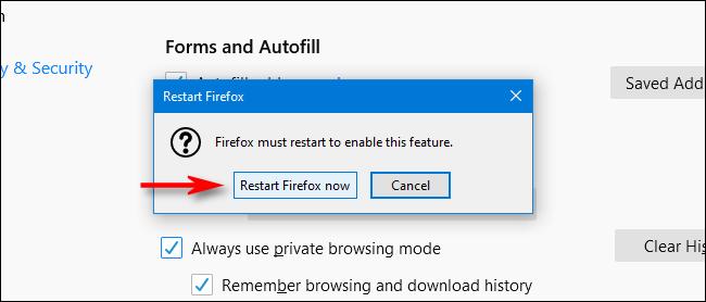 Wie der Privater Modus in Firefox dauerhaft aktivieren