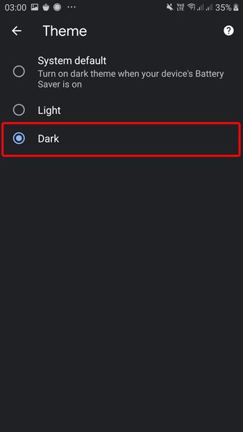 Chrome Dark Mode Android aktivieren, deaktivieren