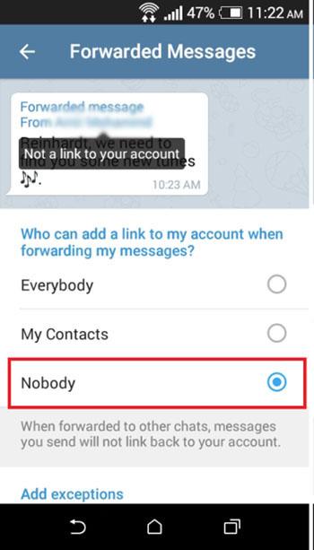 Telegram Nachricht weiterleiten ohne Absendernamen