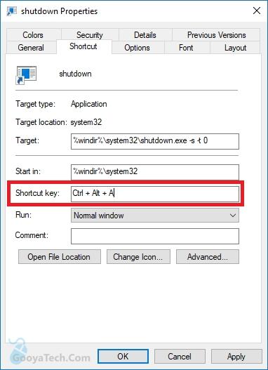 Windows 10 vollständig herunterfahren Verknüpfung erstellen