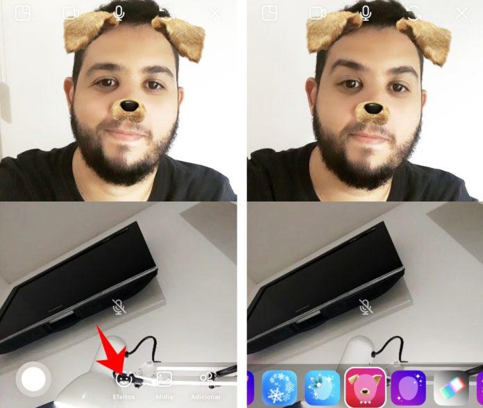 Instagram Kamera Effekte Videochat und videoanruf verwenden