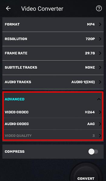 Video komprimieren und Videoformat ändern Android kostenlos